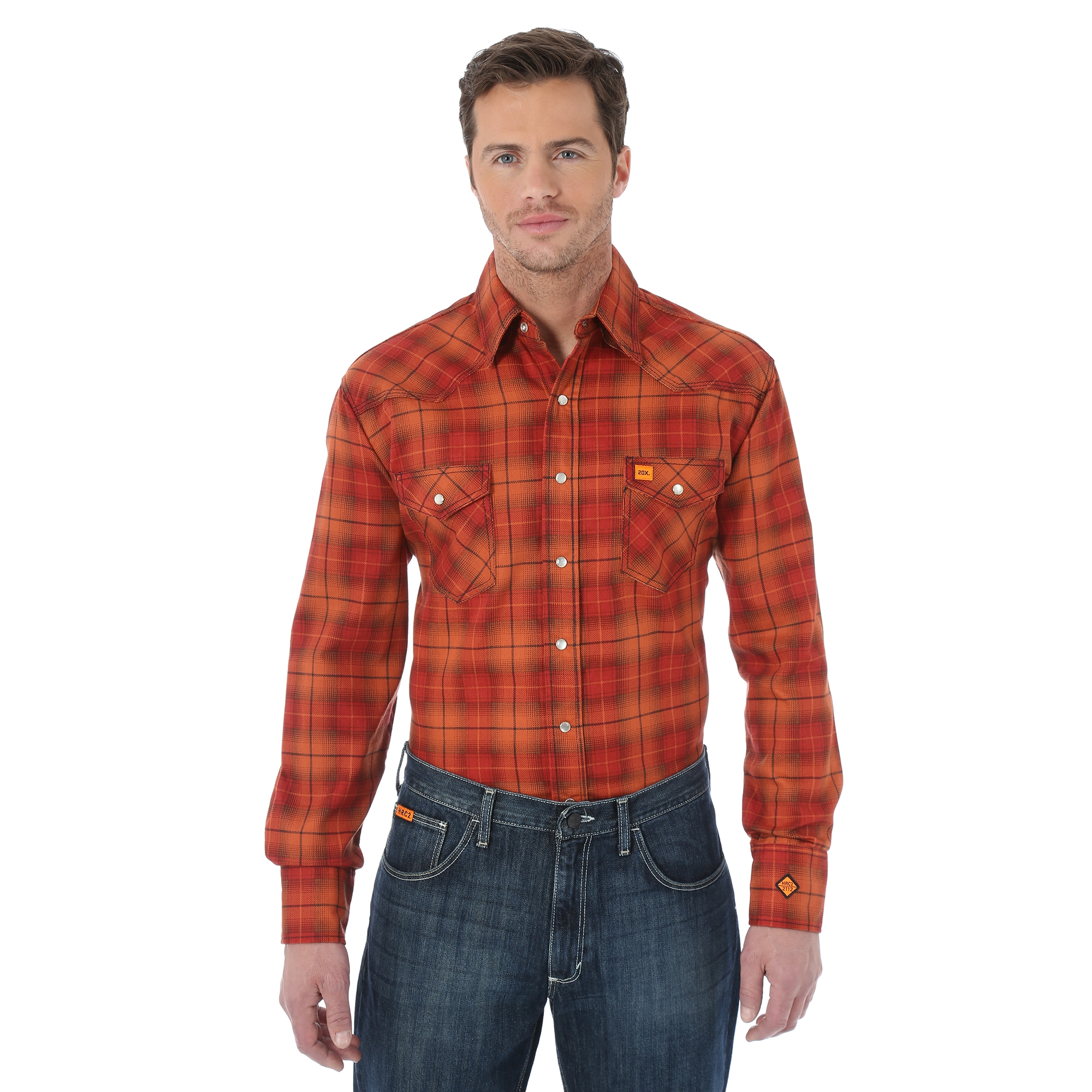 Wrangler Pearl Snap Lightweight Shirt Mettry